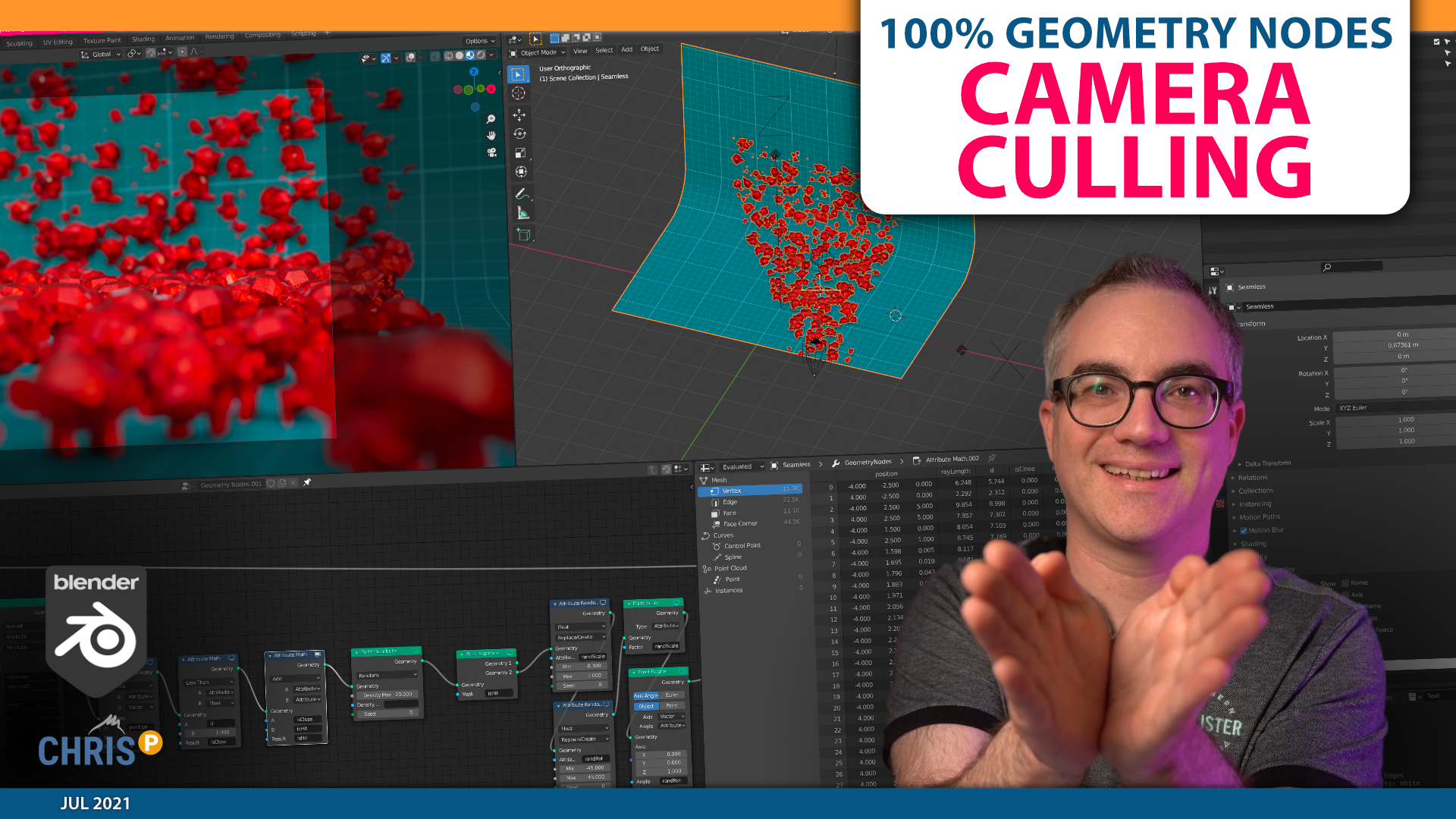 Camera Culling with Geometry Nodes
